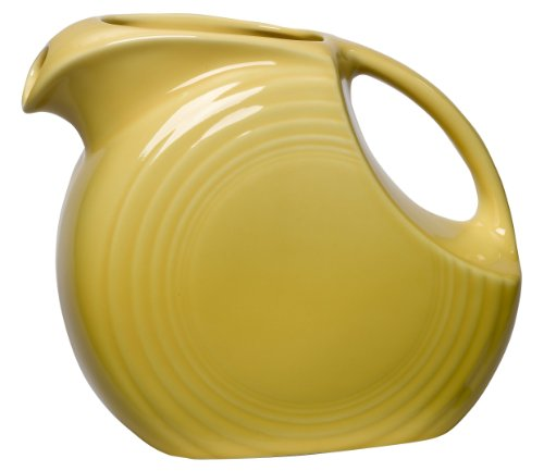 Fiesta 67-1/4-Ounce Large Disk Pitcher, Sunflower China Dinnerware Manufacturers
