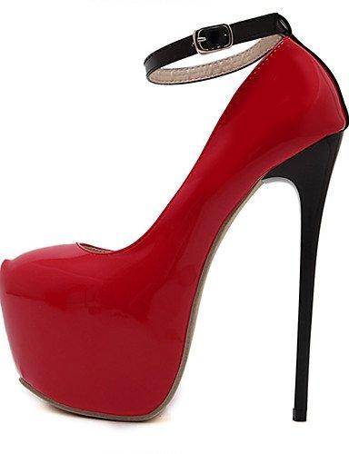 GGX/Damen Schuhe Patent Leder Sommer Heels Rund Toe Heels Party & Abend/Kleid Stiletto Heel andere schwarz/rot red-us6.5-7 / eu37 / uk4.5-5 / cn37
