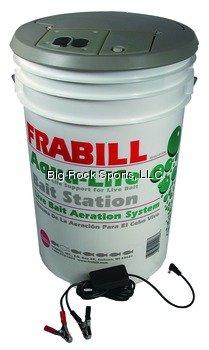 Frabill Aqua-Life Bait Station, White, Outdoor Stuffs