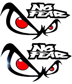 X NO FEAR EYES VINYL CAR DECALS STICKERS CAR GRAPHICS Amazon - Graphic design stickers for cars