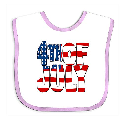 Baby Bibs and Burps 4th Of July Unisex Soft Absorbent Teething Bib (Elodie Detail Bib)
