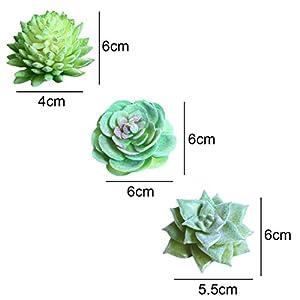 Idealcoldbrew 6 Pcs Artificial Succulent Plants, Realistic Fake Plastic Green Aloe Succulents Bundle, DIY Home Wall Garden Decoration Office Gifts 3