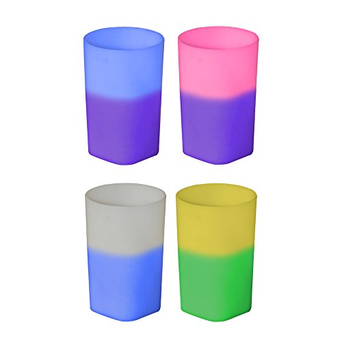 2oz Color Changing Mood Plastic Shot Glass, Set of 12, Assorted Colors