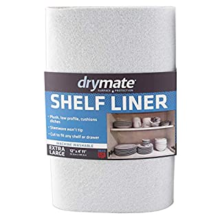 """Drymate Premium Shelf Liner and Drawer Liner (Set of 2), (12"""" x 59""""), Non Adhesive, Durable, Slip Resistant – Absorbent/Waterproof – for Drawers, Shelves and Cabinets (USA Made)"""