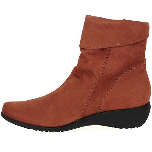 Mephisto Womens Seddy Rust Nubuck Boots 40.5 Eu