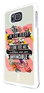 336 - christian quote in the midst of winter i found there was within me an invincible summer Design For All Samsung Galaxy S3 / Galaxy S3 mini / Galaxy S4 /Galaxy S4 Mini / Galaxy S5 / Galaxy S5 Mini / Galaxy S6 / Galaxy S6 Edge / Samsung Galaxy A3 / Galaxy A5 / Samsung Galaxy Galaxy Alfa / Galaxy Ace 4 / Samsung Galaxy Grand Prime Fashion Trend CASE Back COVER Plastic & Metal -Select your phone model from the drop box under by icecream design