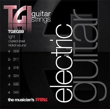 TGI cuerdas de la guitarra eléctrica luz: Amazon.es: Instrumentos musicales