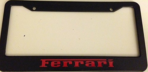 - Ferrari - Automotive Black with Red License Plate Frame - Modena Italia Racing Enzo