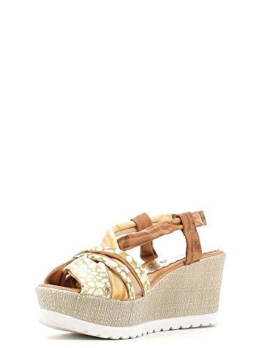 GRUNLAND - Sandalias de vestir para mujer Beige