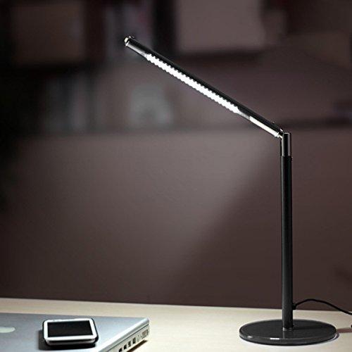 Hogoo 3-Level Eye Protection LED Desk Lamp,90° Adjustable,5V,3Watt,24 Lamp Beads,Black by Hogoo (Image #3)