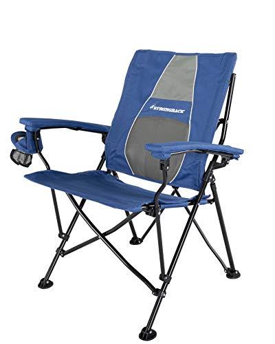 Strongback Elite – ergonomische vouwstoel voor op de camping met lendensteun, 60 cm brede zitting, armleuningen en…