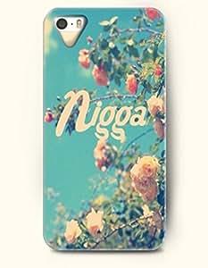 Nigga - Flowers - iPhone 5 / 5s Hard Back Plastic Blue