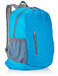 Amazon Basics Mochila Plegable, Ligera, Celeste, 35L