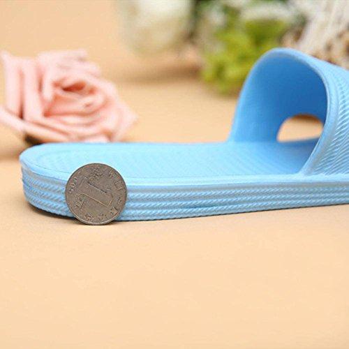 moresave zapato de las mujeres antideslizante baño ducha piso Zapatillas Playa zapatillas sandalias, EVA, Amarillo, Asia37=23.5cm azul celeste