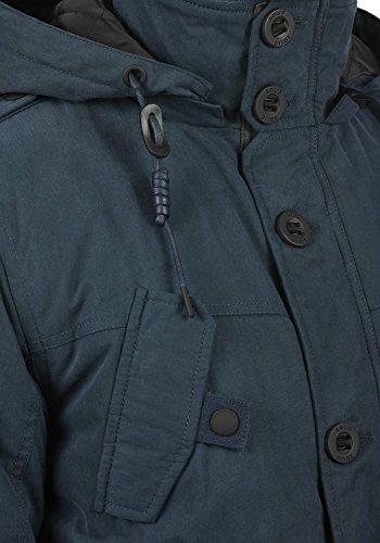 À Homme D'hiver D'extérieur 1991 Pour Blouson Davio Insignia Veste Blue Capuche solid W0SqwH6Fx
