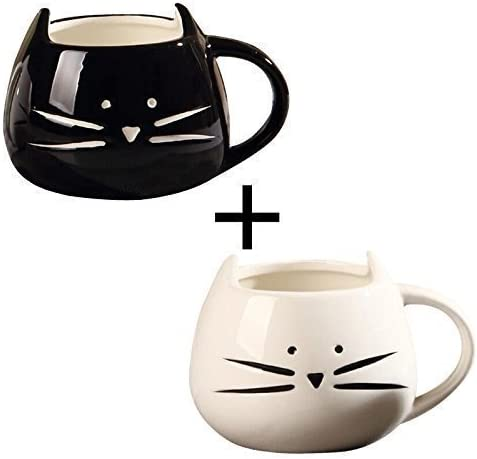 2 Pack,Ilyever Funny Cute Little Cat Coffee Tea Milk Ceramic Gift ...