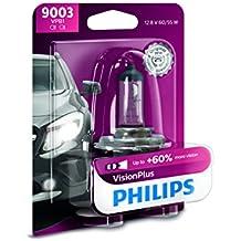 Philips 9003 VisionPlus Upgrade Headlight Bulb, 1 Pack