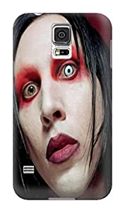 Custom design tpu skin back cover with texture for Samsung Galaxy s5 of Marilyn Manson in Fashion E-Mall