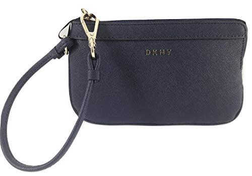 - DKNY Small Bryant Zip Wristlet Navy