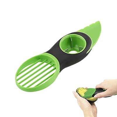 EZbuy 3 in 1 Avocado Slicer Pitters Peeler Skinner Pitter Fruit Corer Kitchen Gadget Tool Kit- Green