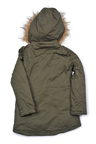 (5402K) Urban Republic Little Girls Twill Anorak Lined Jacket With Hood in Olive Size: (5/6)