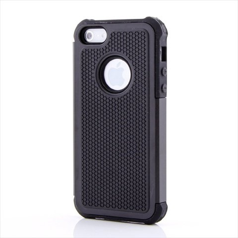 TCD for Apple iPhone 4 4S [BLACK] Executive Armor Defender Series [HIGH IMPACT] Multi Layer [Hard/Soft Combo] TPU & Hard Plastic Shock Absorbant iPhone Case with [FREE SCREEN PROTECTOR & STYLUS PEN]
