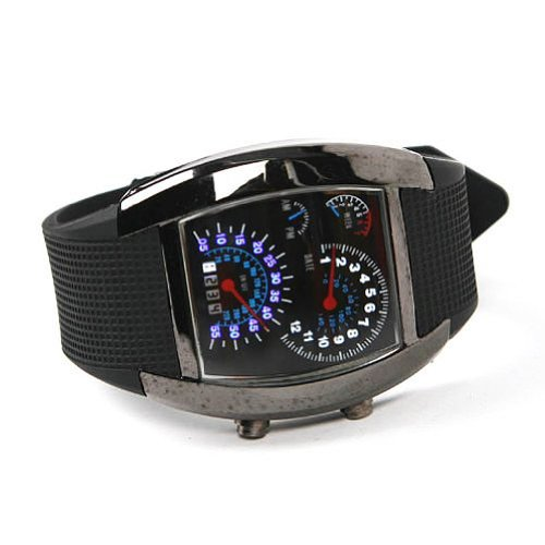 Gleader Shot-in Creative LED Watch Sector Sports Car Meter D