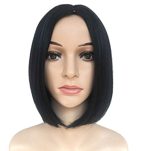 Inkach Clearance! Short Straight Wigs for Black Womens Synthetic Bob Wigs Side Party Bangs Female Wig Costume Cosplay Party Full Human Hair Wigs (A) ()