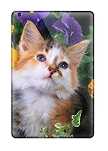 Ipad High Quality Case/ Cat With Flowers SecnCRa4242kPnJi Case Cover For Ipad Mini/mini 2