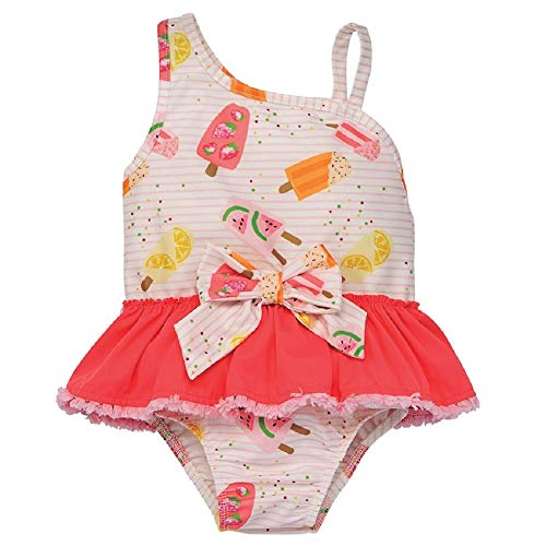 (Mud Pie Popsicle Print Swimsuit Red, Pink)