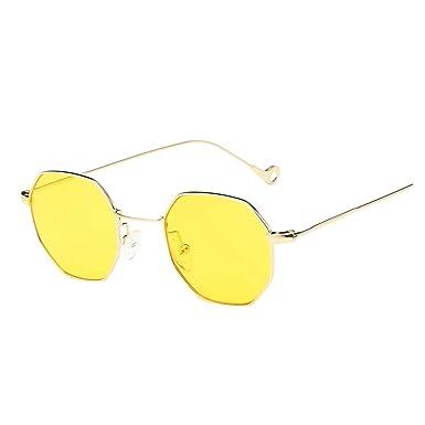 Gafas de Sol Mujer Hombre, Zolimx Moda Metal Irregularidad ...