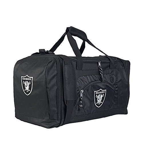 Amirshay, Inc. Oakland Raiders NFL Roadblock Duffel Bag (Black/Black) (2-Pack) by Amirshay, Inc.