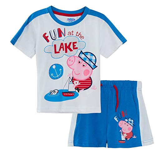 Peppa Pig George Pig Boys T-Shirt + Shorts Set Blue 3 Years]()