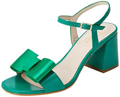 lodi Jesade, Sandali con Cinturino Alla Caviglia Donna Verde (Sweet Greenery Greenery)