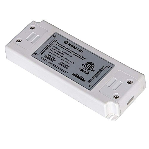 HERO-LED PS-12LPS20-DIM ETL-listed Dimmable LED Constant Voltage Power Supply - Dimmble LED Transformer 12V DC, 1.7A, 20W