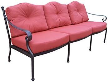 Oakland Living Berkley Deep Sitting Sofa with Spounpoly Cushions