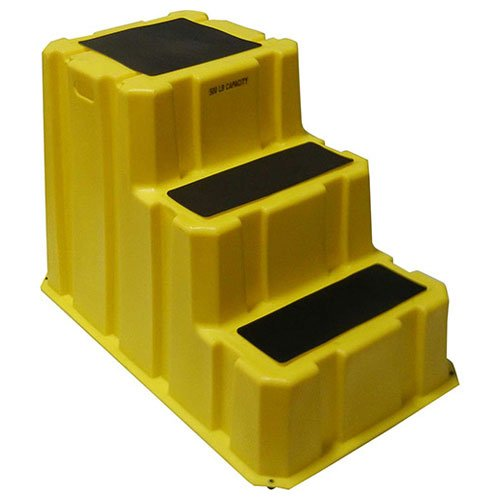 3 Step Nestable Plastic Step Stand - Yellow 25-3/4''W X 42''D X 29''H by Diversified Plastics