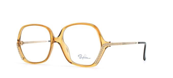 d6315f0db88 Saphira 4115 10 Brown Rectangular Certified Vintage Eyeglasses Frame For  Womens  Amazon.co.uk  Clothing