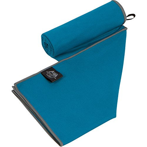 Bear Essentials Microfiber Camping and Travel Towel, Ultra Fast Quick Dry Swim Towel, Teal/Gray, Large - 56'' L x 32'' W by Bear Essentials