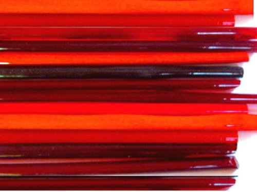 Glass Boro Lampwork - Devardi Glass Lampwork, Beadmaking Glass Rods, COE 104 Mixed Reds 1 Lb