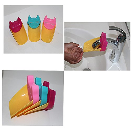 Amazing Tot Faucet Extender for Babies & Toddlers - Cute Bathroom Safety Products - 3 Pack