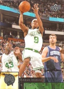 (Rajon Rondo basketball card (Boston Celtics NBA Champion) 2009 Upper Deck #10)