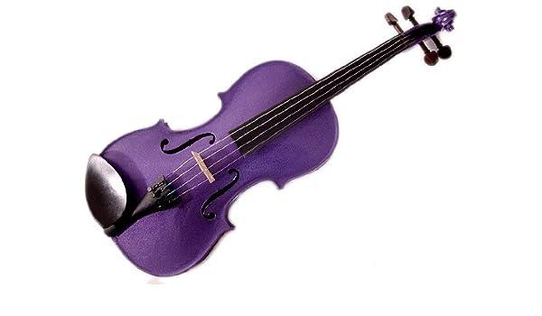 Harlequin morado 4/4 violín con arco y estuche (tamaño: Amazon.es: Instrumentos musicales