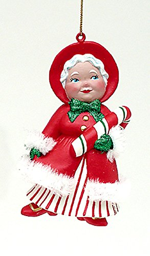 Kurt Adler Retro Blow Mold Mrs. Claus Christmas Ornament 5""
