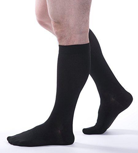 Allegro Essential - Mens Ribbed Support Socks 20-30mmHg - #102 (X-Large, (Ribbed Support)