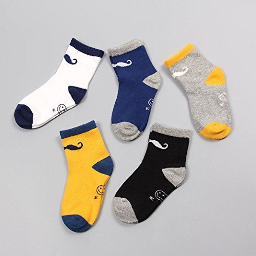 Wanglele Two Cylinder Bar Movement In Spring And Autumn In All Children Socks Shutiao Socks Sweat Absorbent Breathable Deodorant Anti Friction Plastic Socks Ten Pairs,Beard (9-12 Years Old)