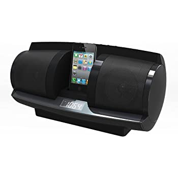Coby CSMP137BLK AM/FM Clock Radio for iPod and iPhone Docking Stereo Speaker System (Black) (Discontinued by Manufacturer)