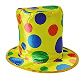 Beito 1pcs Halloween Funny Colorful Polka Dot Clown Hat Magician Costume Hat For Stage