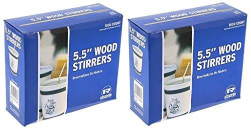 Royal 1000 Count Wood Coffee Beverage Stirrers, 5.5''