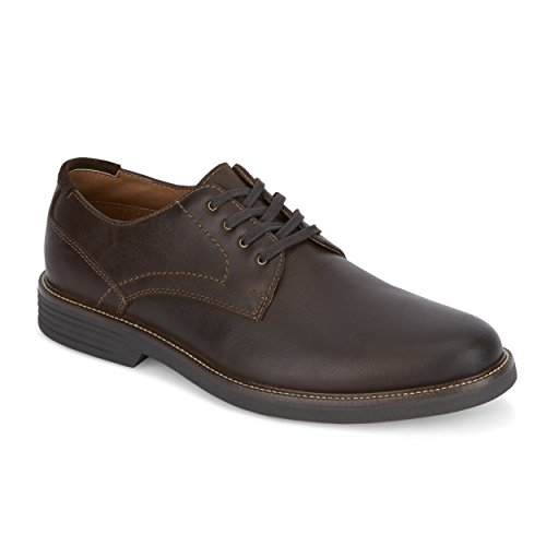 G.H. Bass & Co. Howell Leather Oxford Shoe with NeverWet, Dark Brown, 8.5 ()